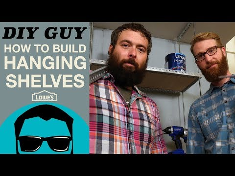 How To Build Hanging Shelves