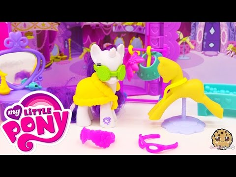 My Little Pony Cutie Mark Magic Rarity Booktique MLP House  Playset Toy Unboxing Video Cookieswirlc