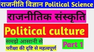 राजनीतिक संस्कृति political culture
