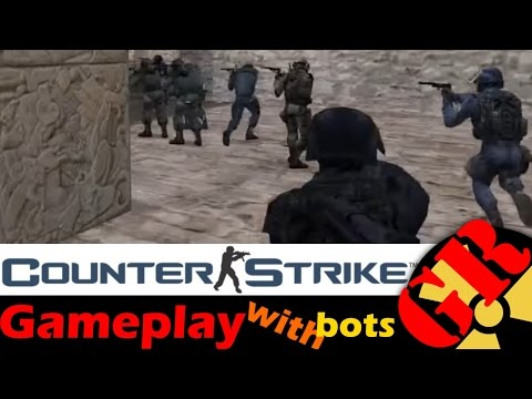 Counter-Strike v1.6 gameplay with Hard bots - Aztec - Counter-Terrorist