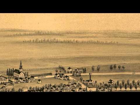 Caledonia New York 1892 Panoramic Bird's Eye View Map 6809
