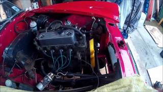 Mg midget engine removal