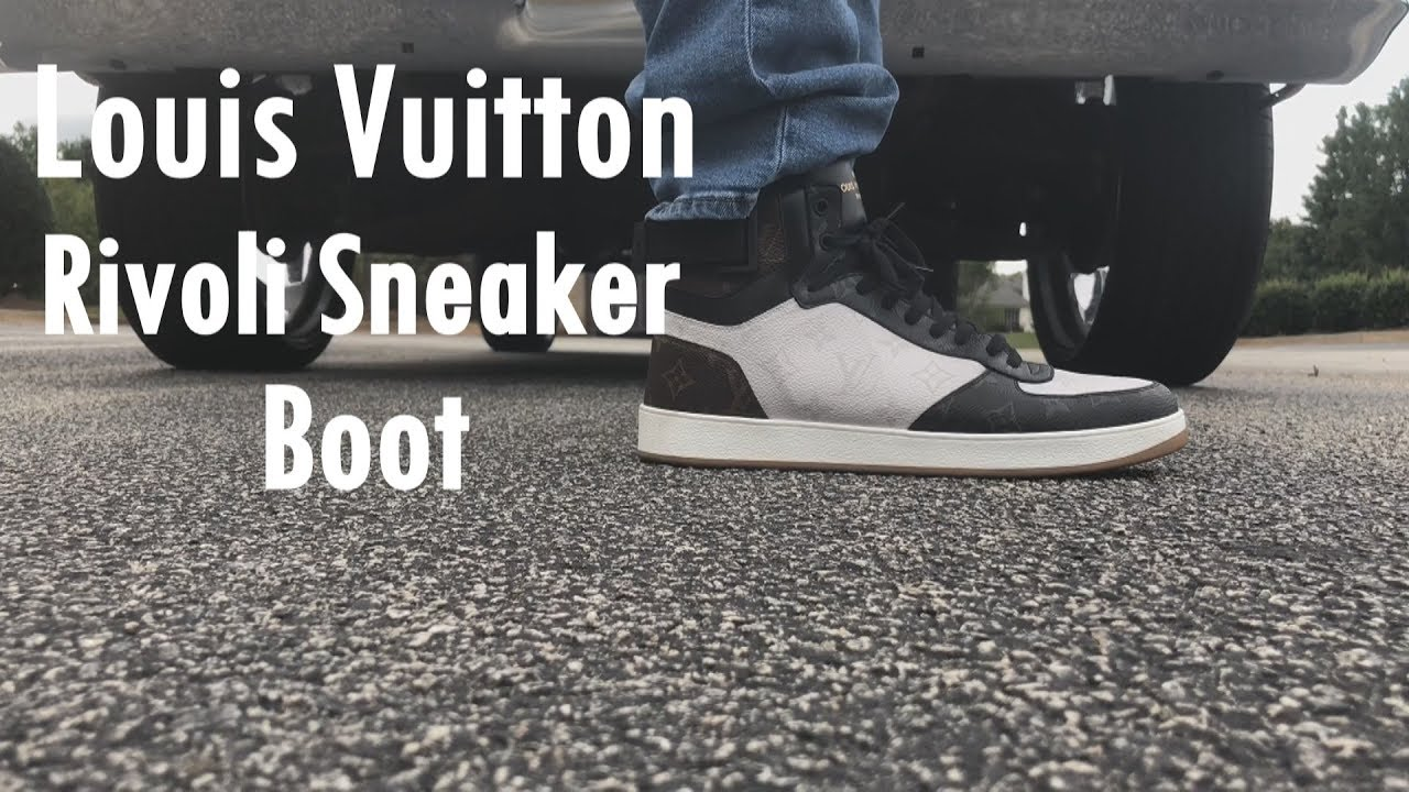 40894f181fdb Louis Vuitton Rivoli Sneaker Boot On Feet - YouTube