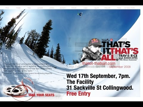 That's It That's All - Travis Rice (HD) / Snowboarding