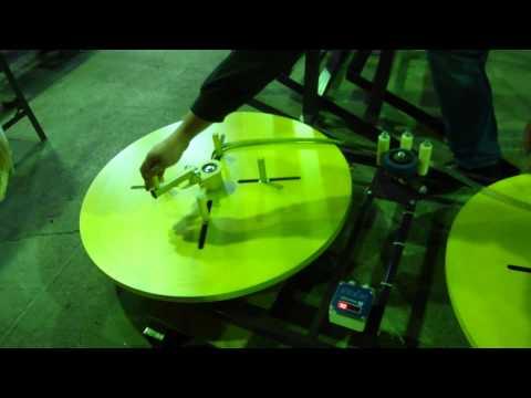 видео: Станок для перемотки мебельной кромки и стальной ленты МПМК 0,8Н