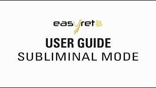 Quantel Medical  EasyRet - User Guide SubLiminal