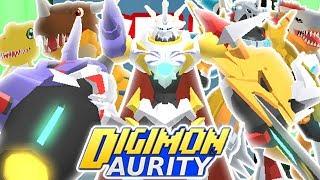 Digimon Aurity - DIGIVOLVING TO OMEGAMON X-ANTIBODY! AGUMON X DIGIVOLUTION LINE (Roblox) *NEW*