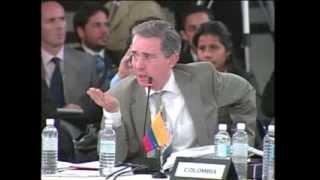 Cumbre Rio 2008 en República Dominicana (7/8) Alvaro Uribe 2da intervencion