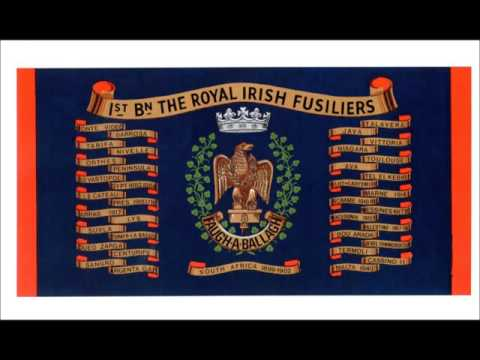 The Pipes and Drums of The Royal Irish Fusiliers play