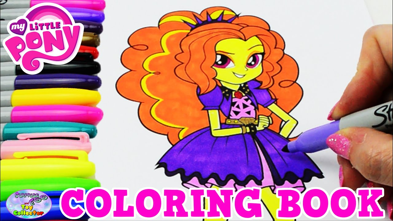My Little Pony Dazzlings Coloring Pages. My Little Pony Coloring Book MLP EG Adagio Dazzle Colors Episode Surprise  Egg and Toy Collector SETC YouTube