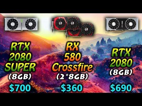 RTX 2080 SUPER vs RX 580 Crossfire vs RTX 2080 | 1080p 1440p and 4K Benchmark