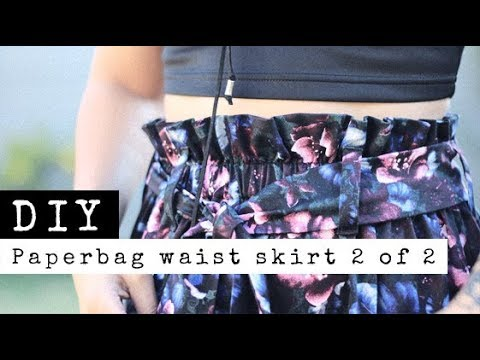 DIY Paperbag Waist Skirt Belt and Belt Loops (Part 2 of 2) | Raylene Harvey