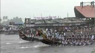 The final lap at Kerala snake boat race