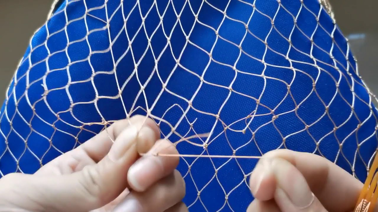how to mend a fishing net