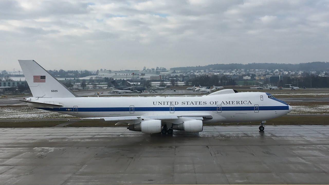 Usaf Boeing 747 200 E 4b 75 0125 Doomsday Plane Take Off