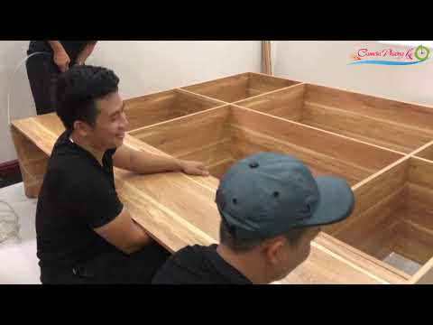 Lắp Tủ và Giường bằng gỗ công nghiệp lõi xanh - Green core industrial wood