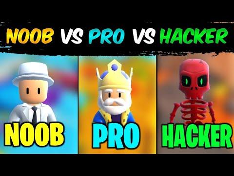 Download Noob Vs Pro Vs Hacker in Stumble Guys   Stumble Guys: Multiplayer Royal