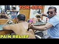 Body pain relief Tok Sen massage therapy by Indian barber | Neck cracking | ASMR