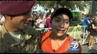 Soldier Surprises Wife