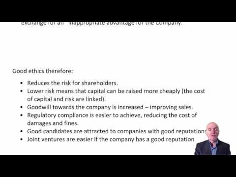 CIMA E1 Ethics and Corporate Governance
