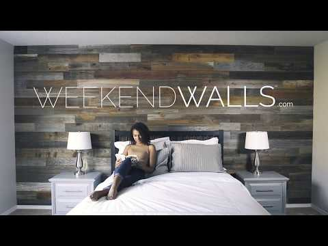 Weekend Walls Peel And Stick Wood Paneling