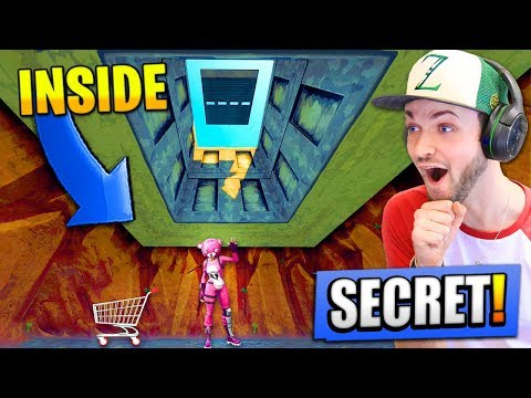 Going *INSIDE* the SECRET BUNKER in Fortnite: Battle Royale!