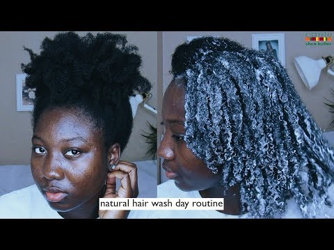 My 4C Natural Hair Wash Day Routine   Cantu Shea Butter