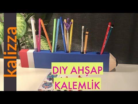 DIY Ahşap Kalemlik (DIY Wooden Pen Holder)