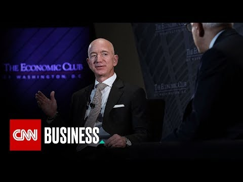 Amazon CEO defends the press against Trump