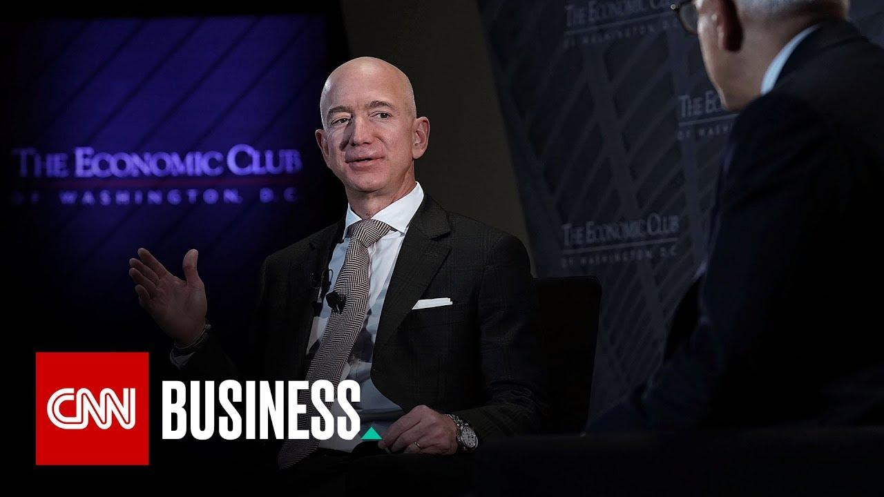 Amazon CEO defends the press against Trump