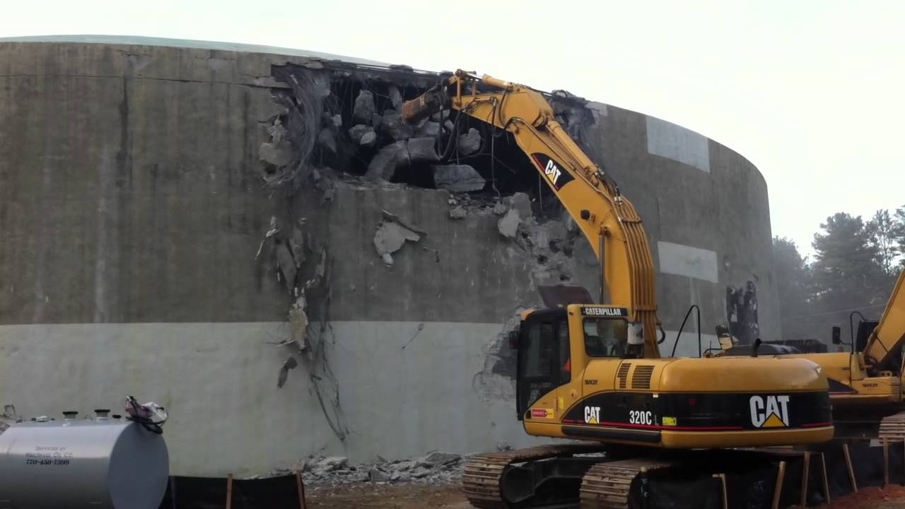 Water Tank Demolition : Cmwa tristar jackhammer water tank demolition youtube