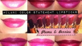 NEW Milani Color Statement Lipsticks: Plums & Berries