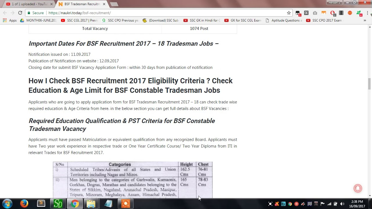 BSF Tradesman Recruitment 2017 – 18 Apply Form For 1074 BSF ... on application form word document, out of order sign pdf, application form excel, application form design, application form print, birth certificate pdf, fill out application pdf, costco application pdf, blank employment application pdf, application form online, application form graphics, financial statement pdf,
