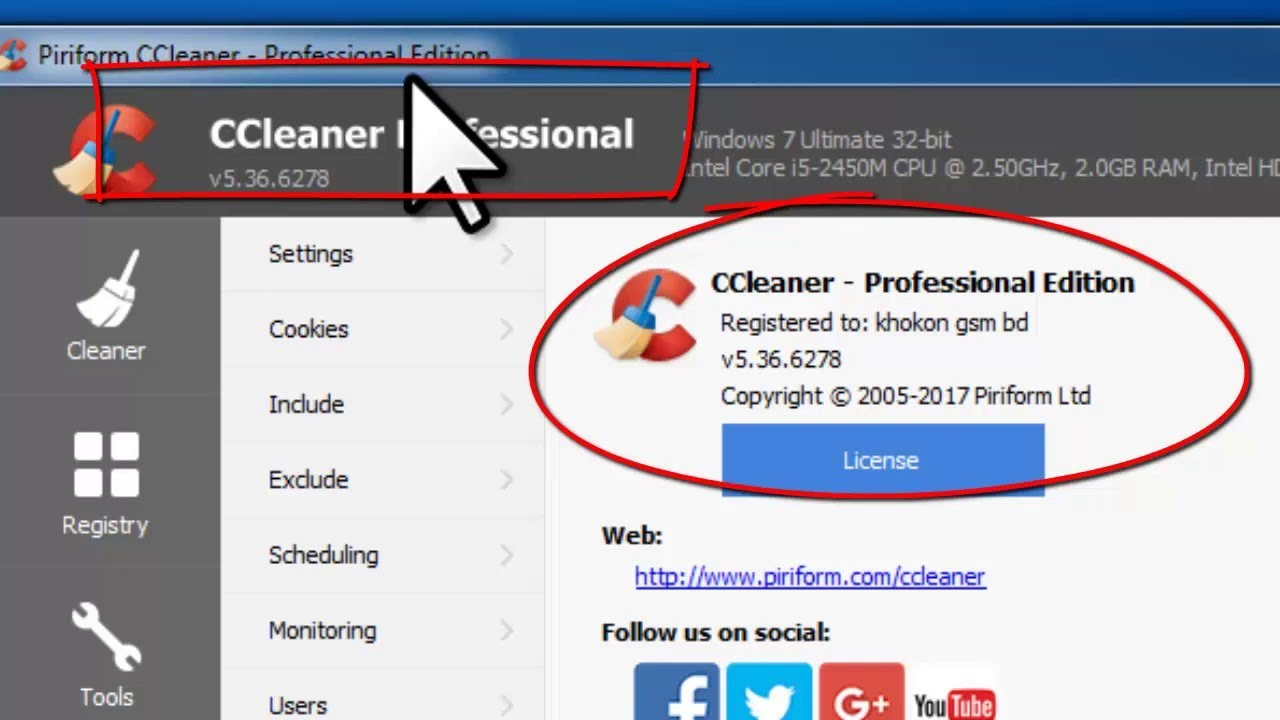 CCleaner Professional 5.67 License Key Free Download 2020 ...
