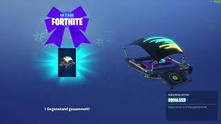 Search Chests 0/14 FORTNITE 14 Days Challenge Day 14 Free Equalizer Glider Review