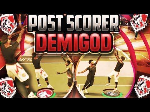 NEVER MISS A SHOT ON 2K AGAIN!! POST SCORER DEMIGOD NBA2K17 MYPARK