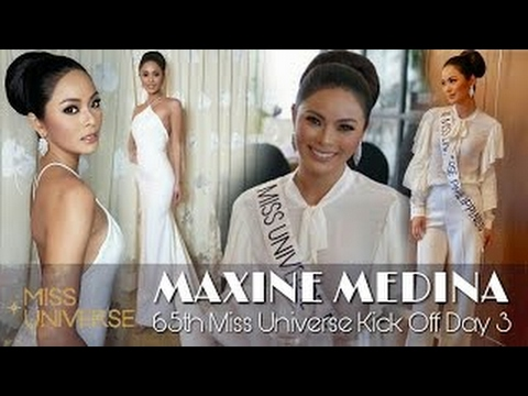MAXINE MEDINA    65th Miss Universe Kick Off Day 3    Miss Universe 2016