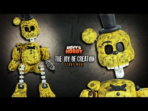 IGNITED GOLDEN FREDDY ★ TJOC: STORY MODE  ➤ Tutorial - Polymer clay ★ Cold porcelain ✔ Giovy Hobby