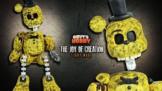 How to make IGNITED GOLDEN FREDDY ★ TJOC: STORY MODE  ➤ Polymer clay Tutorial ✔ Giovy Hobby thumbnail