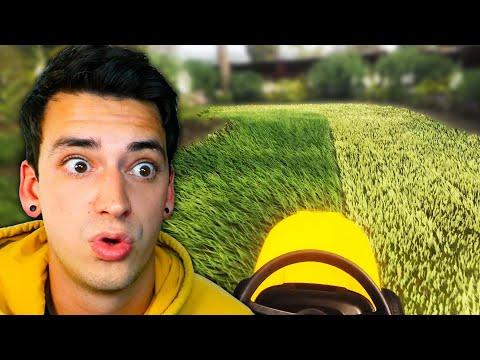 Lawn Mowing Is WAY TOO SATISFYING. (Lawn Mowing Simulator) |