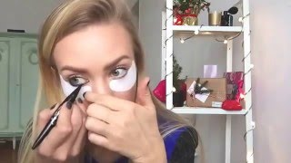 Елена Кригина - Новогодний макияж 2016(Видео урок Топ Визажиста )