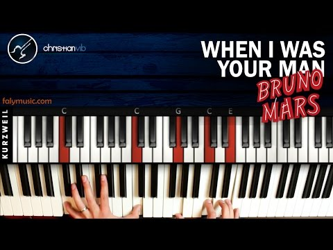 Como Tocar When I Was Your Man En Piano Bruno Mars Tutorial