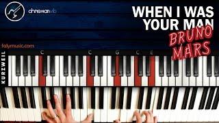 Como tocar When I Was Your Man en Piano BRUNO MARS | Tutorial Completo