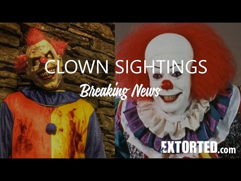 Breaking news: Clown Sightings have caused panic across the globe