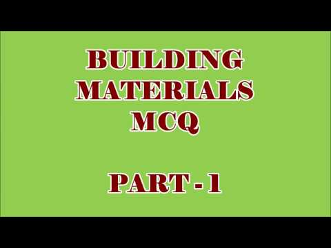 CIVIL ENGG MCQ || BUILDING MATERIALS 100 OBJECTIVE QUESTIONS AND ANSWERS || PART - 1