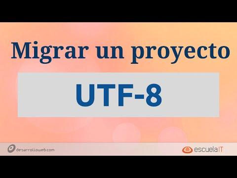 Migrar un proyecto a UTF-8 #programadorIO