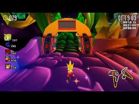 Sonic R PC 2004  A Quick Run to test recording ADX Music + UI Stray Pixel Fix  CheatFreak