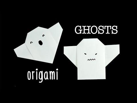 Easy Origami Ghost Tutorial - Halloween DIY - Paper Kawaii
