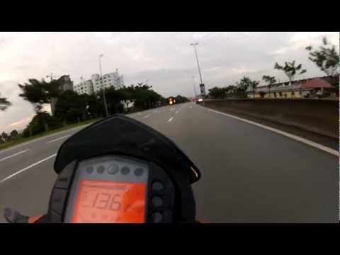 KTM DUKE 200 speed cut off  - YouTube