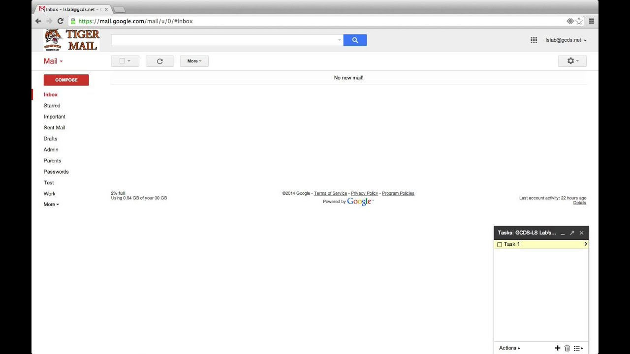 GMail - Tasks Overview